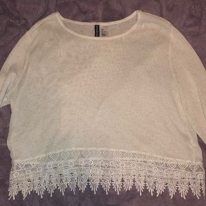 🌸 White Intricate Lace Sweater 🌸